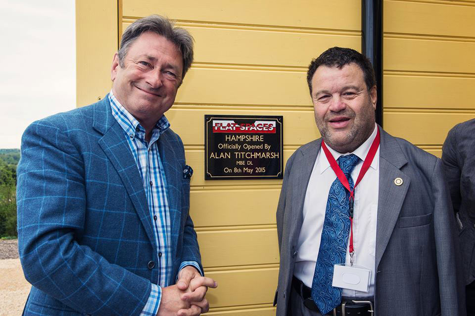 Alan Titchmarsh opening Flat Spaces Ropley
